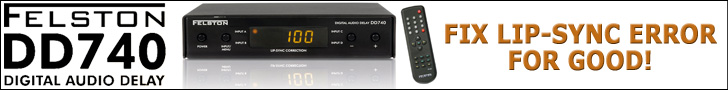 Felston DD740 Digital Audio Delay - Fix Lip-Sync Errors for Good!